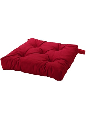 BUTTON RED CUSHION 5