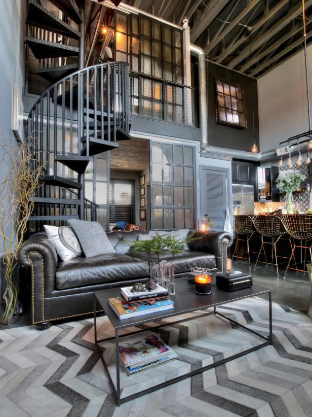 Get The Look: Industrial Living Space